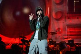 Eminem enters the record books with his song 'Rap God'. Picture taken when he was performing during 2014 Lollapalooza Day One at Grant Park on August 1, 2014 in Chicago, Illinois.