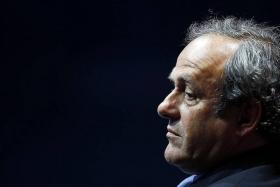 FLAWED: Michel Platini's (above) new format means that Portugal still have a good chance of qualifying despite falling to Bekim Balaj's (No. 19) wonder goal.