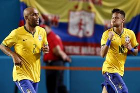 Maicon's (left) days as a Brazil player look to be over after he was expelled from the Selecao's squad for a serious breach of discipline.