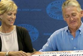 Rhonda and Joe Meath won US$11.7 million in a lottery but this won't change their lives much as she still intends on being a waitress.