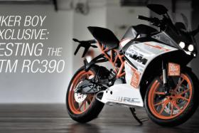 The KTM RC390 in all it's glory.