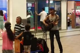Check out this talented Tampines busking duo, believed to be father and son.