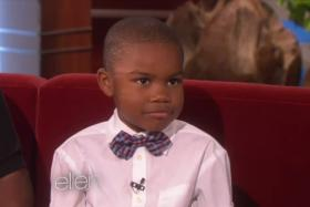 """Kid who told his mom her pregnancy news was """"exasperating"""" appears on US talk show Ellen Degeneres to explain himself."""