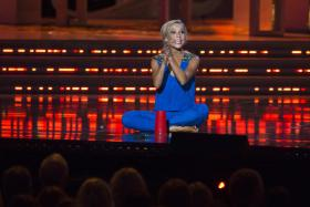 Miss New York Kira Kazantsev performs during the final 2015 Miss America Competition.