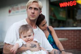 A cinema still from US crime-drama film The Place Beyond The Pines which starred Gosling and Mendes.