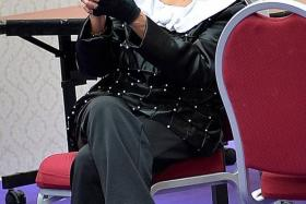 SPORTING: Madam Shirley Chua, 67, in her Magent Magent cosplay outfit from JoJo's Bizarre Adventure.