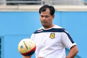 KEEP GOING: Hougang United coach Amin Nasir has suffered a relapse of his cancer, which was thought to be in remission since the start of the year. He is still coaching his club but his future is now uncertain.