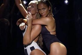 TWO-GETHER: Jennifer Lopez with Iggy Azalea in the Booty video.