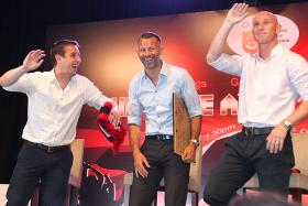Businessman Peter Lim has bought a 50 per cent stake in Salford City FC, which is owned by former Manchester United players Gary Neville, Ryan Giggs and Nicky Butt (pictured above) as well as Paul Scholes and Phil Neville.