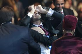 FIFA top official Theo Zwanziger predicts the 2022 World Cup will not be held in Qatar. File picture depicts the reaction members of Qatar's delegation had after the 2010 announcement, made in Zurich, that Qatar would host FIFA World Cup 2022.