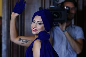 Lady Gaga and Tony Bennett launched a jazz album on Monday that lets the pop diva put aside her wacky image.