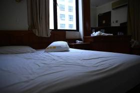 SCENE: The Golden Star Hotel in Geylang where Miss Ummul Qurratu 'Ain Abdul Rahman was attacked by Giselle Shi Jia Wei. They had booked a room like this one (above) there.