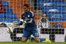 Navas making a save during Real Madrid's game against Elche.