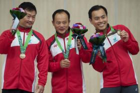 Asian Games: S'pore shooters get in the groove.