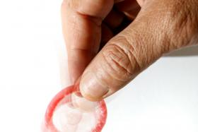 File photo of a condom. Guess what crazy things people used in the past to prevent pregnancies.