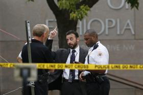 The U.S. Secret Service detained a possible shooter after a report that shots were fired on Monday near the Ethiopian embassy in Washington.