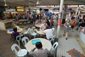 PATIENT: The waiting time for each customer at Kok Kee Wanton Noodles yesterday was about 25 minutes.