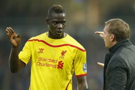 BLIND FAITH? Mario Balotelli (left) has yet to show he is capable of filling the giant gap left by Luis Suarez's departure, but Red boss Brendan Rodgers (right) has persisted with the Italian.