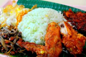 Three men were upset with a 30-year-old teacher for barring one of them from selling the popular dish to students at Malacca High School.