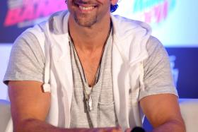 Hrithik Roshan looks on during a promotional event for the forthcoming Hindi film 'Bang Bang!' in Mumbai on Wednesday.