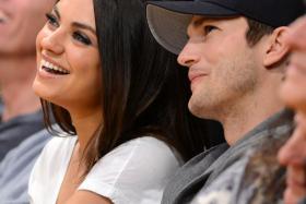 File photo of Ashton Kutcher and Mila Kunis.