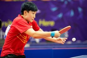 Feng Tianwei at the 2014 Asian Games.