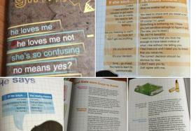 Screencapture of the pictures of the workshop materials which student Agatha Tan shared on Facebook.