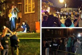 Hundreds of people protest after another police shooting at St Louis.