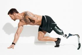 Retired Army Sgt. Noah Galloway is the first double-amputee to make the cover of Men's Health.