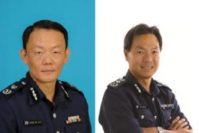 Mr Hoong Wee Teck (left) with be taking over from Mr Ng Joo Hee (right) as the Commissioner of Police.