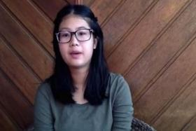 Actor Gurmit Singh's 17-year-old daughter Gabrielle in a YouTube video posted on her blog site.