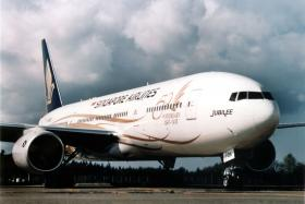 File photo of SIA plane from Boeing.