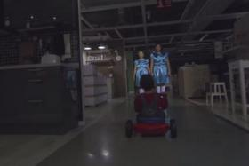 Ikea Singapore's new ad parodies the iconic scene from Stanley Kubrick's The Shining.