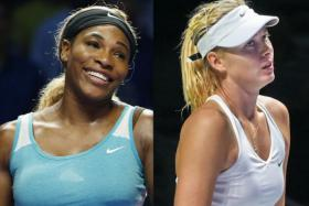 At the WTA Finals in Singapore on Thursday, Serena Williams (left) bounced back from her humiliating Wednesday defeat, while Maria Sharapova suffered her second straight loss.