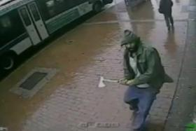 A screengrab of the attacker released by the NYPD.