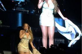 IN HER ELEMENT: Mariah Carey wowing the audience yesterday.