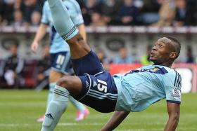 SENSATION: Senegalese striker Diafra Sakho has quickly settled into the EPL with five goals in six games.