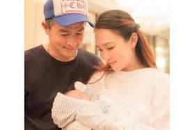Christopher Lee (left) with wife Fann Wong and their son Zed.