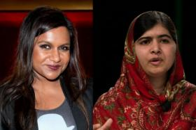 US actress Mindy Kaling (left) was mistaken for Nobel Peace Prize winner Malala Yousafzai at a party in New York City recently.