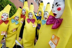 Participants in the annual Halloween Parade in Kawasaki, a suburb of Tokyo.