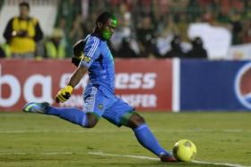 File picture of South African goalkeeper Senzo Meyiwa during the CAF Champions League Final second leg in Cairo. He died on October 26, 2014 after being shot at his home in Johannesburg.