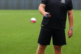 KEAN ON TITLE:Brunei DPMM coach Steve Kean (above) believes that the equation - win their remaining two games and they will be assured of the title - may benefit them.