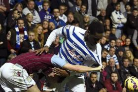 STRUGGLE: Tom Cleverley (left, with Leroy Fer) fails to stamp his authority in midfield for Aston Villa.