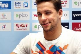 """"""" I believe by Rio, I should be in peak condition. I don't think he will be worse in Rio, I think he'll be back where he wants to be. He's a champion in all respects but I believe I can beat him again. """" - Chad le Clos (above), who believes he can beat Michael Phelps in the 100m and 200m fly at the 2016 Olympics"""