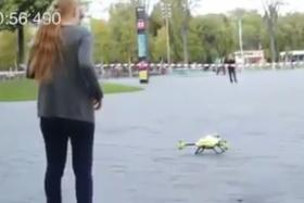 A Dutch-based engineering student has revealed a prototype 'ambulance drone' also known as a flying defibrillator.