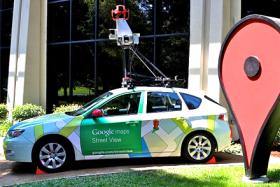 Street View car on display at Google.