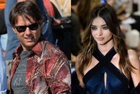 Is actor Tom Cruise (left) wooing Victoria's Secret model Miranda Kerr?
