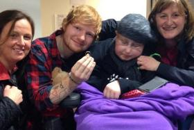 British pop star Ed Sheeran recently accepted a marriage proposal from a brain cancer patient who is terminally ill.
