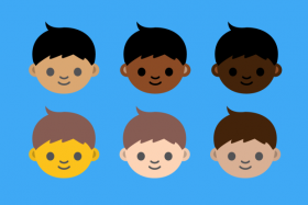 Racially diverse emoji characters will be available from June next year.