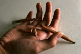 Sichuan man got angry after arguing with his father - and swallowed a pencil in his rage.